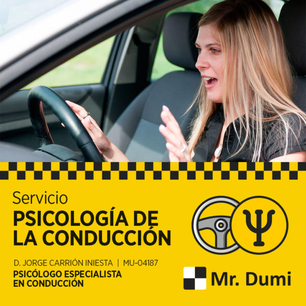 Servicio de psicología de la conducción Autoescuela Mr. Dumi